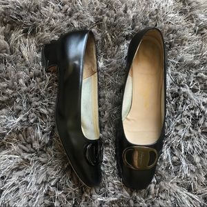Salvatore Ferragamo Pumps Black Size 6 C Logo
